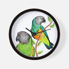 Senegal Parrots Wall Clock