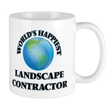 World's Happiest Landscape Contractor Mugs