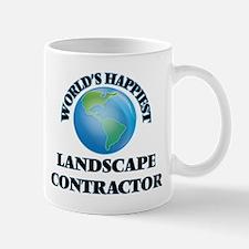 World's Happiest Landscape Contractor Mugs