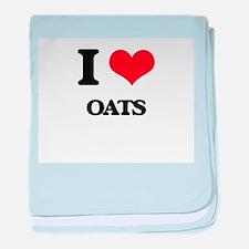 I Love Oats baby blanket
