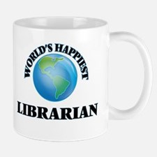 World's Happiest Librarian Mugs