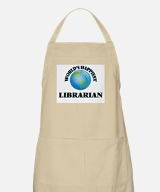 World's Happiest Librarian Apron
