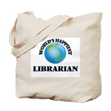 World's Happiest Librarian Tote Bag