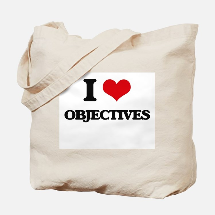 I Love Objectives Tote Bag