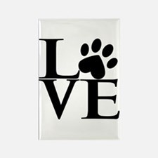 Animal LOVE Rectangle Magnet