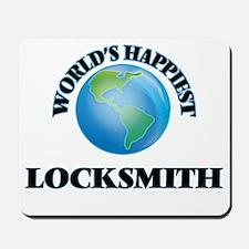 World's Happiest Locksmith Mousepad