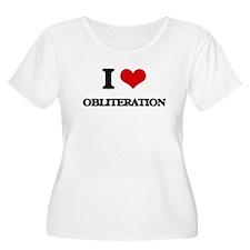 I Love Obliteration Plus Size T-Shirt