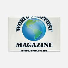 World's Happiest Magazine Editor Magnets