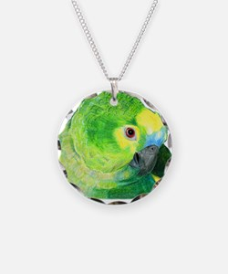 Blue-Fronted Amazon Necklace
