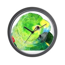 Blue-Fronted Amazon Wall Clock