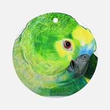 Blue-Fronted Amazon Ornament (Round)