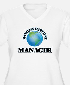 World's Happiest Manager Plus Size T-Shirt