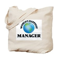 World's Happiest Manager Tote Bag