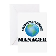 World's Happiest Manager Greeting Cards