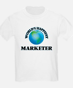 World's Happiest Marketer T-Shirt