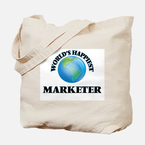 World's Happiest Marketer Tote Bag