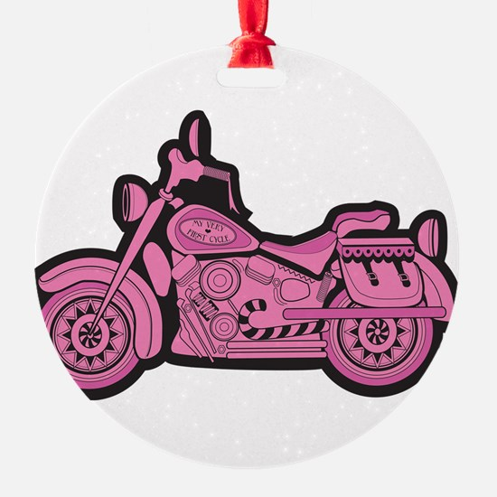 My First Pink Cycle Ornament