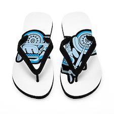 First Blue Bike Flip Flops