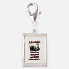 NO GREAT STORY Silver Portrait Charm