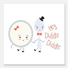 """Hey Diddle Diddle Square Car Magnet 3"""" x 3"""""""