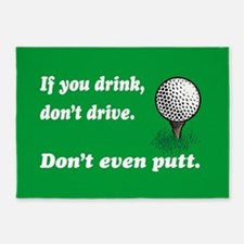 DON'T EVEN PUTT 5'x7'Area Rug