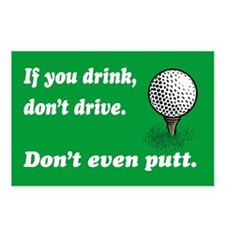DON'T EVEN PUTT Postcards (Package of 8)