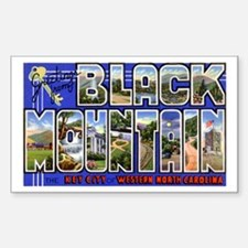 Black Mountain North Carolina Sticker (Rectangular