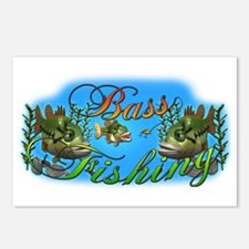 Bass Fishing Postcards (Package of 8)
