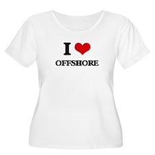 I Love Offshore Plus Size T-Shirt