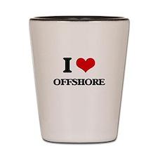 I Love Offshore Shot Glass