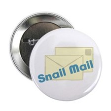 """Letter_Snail Mail 2.25"""" Button (100 pack)"""