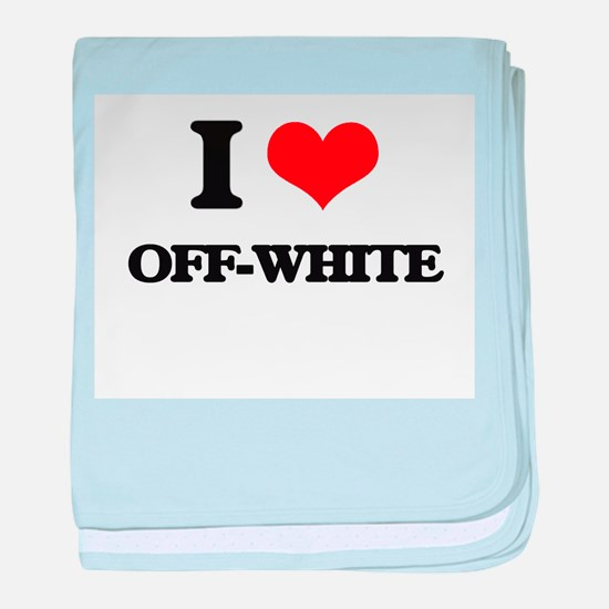 I Love Off-White baby blanket