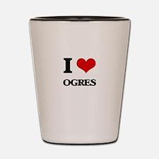 I Love Ogres Shot Glass