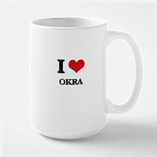 I Love Okra Mugs