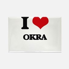 I Love Okra Magnets