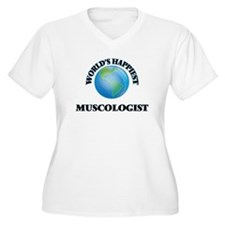 World's Happiest Muscologist Plus Size T-Shirt