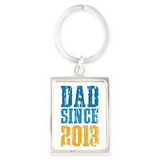 Dad Since 2013 Keychains