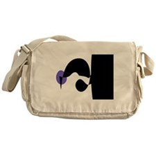 Black, White and Purple Messenger Bag