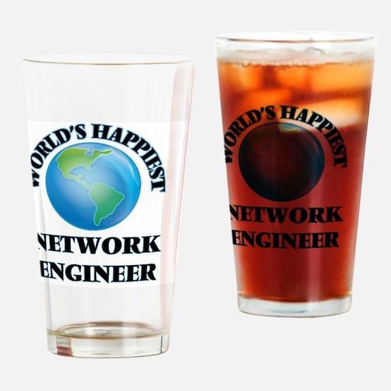 World's Happiest Network Engineer Drinking Glass