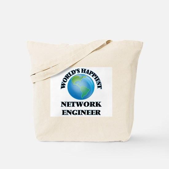 World's Happiest Network Engineer Tote Bag
