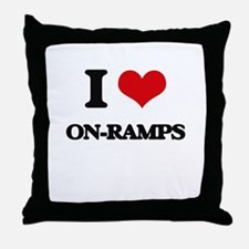 I Love On-Ramps Throw Pillow