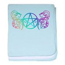 Colorful Pentacle baby blanket