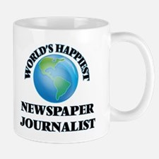 World's Happiest Newspaper Journalist Mugs