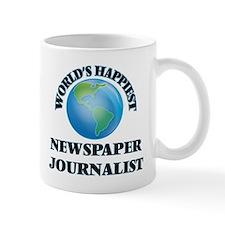 World's Happiest Newspaper Journalist Mugs