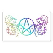 Colorful Pentacle Decal