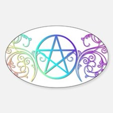 Colorful Pentacle Bumper Stickers