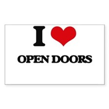 I Love Open Doors Decal