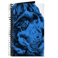 Cool Blue Dog Journal