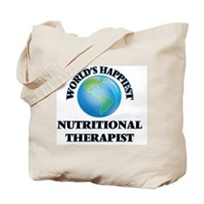 World's Happiest Nutritional Therapist Tote Bag