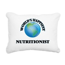World's Happiest Nutriti Rectangular Canvas Pillow